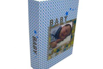 Álbum Infantil 15X21 60 Fotos – Azul e Rosa