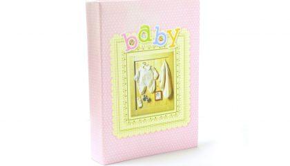 Álbum para 200 Fotos 10×15 – Baby Rosa