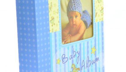 Álbum para 60 Fotos 15×21 – Baby Álbum Azul