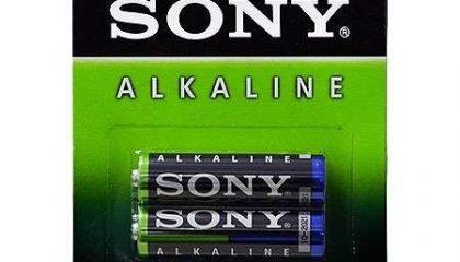Pilha Alcalina Sony AA – Cartela com 2 pilhas