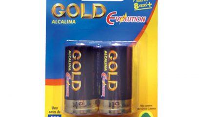 Pilhas Alcalinas GOLD C – Cartela com 2 Pilhas