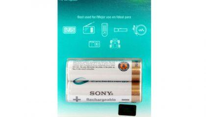 Pilha Recarregável Sony AA – Cartela com 2 pilhas