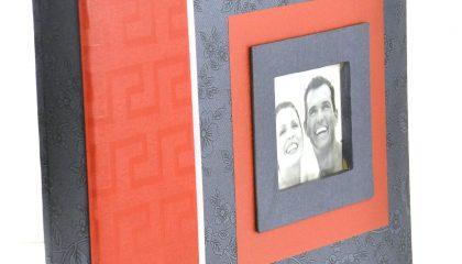 Álbum para 60 Fotos 15×21 – Cinza e Vermelho
