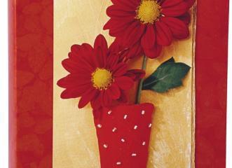 Álbum para 60 ou 120 Fotos 10×15 – Floral Vermelho