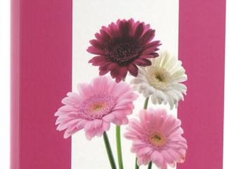 Álbum para 60 ou 120 Fotos 10×15 – Floral Rosa com Branco