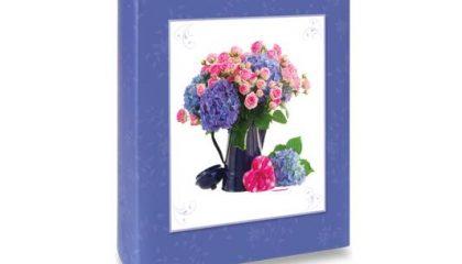 Álbum para 60 ou 120 Fotos 10×15 – Floral Azul