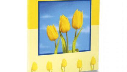 Álbum para 60 ou 120 Fotos 10×15 – Floral Amarelo