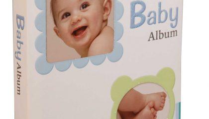 Álbum Baby Azul. 72 fotos 10×15-Janela Personalizável