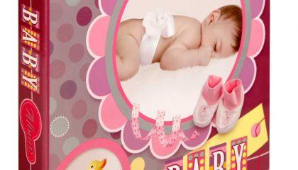 Álbum Baby Rosa. 72 fotos 10×15-Janela Personalizável